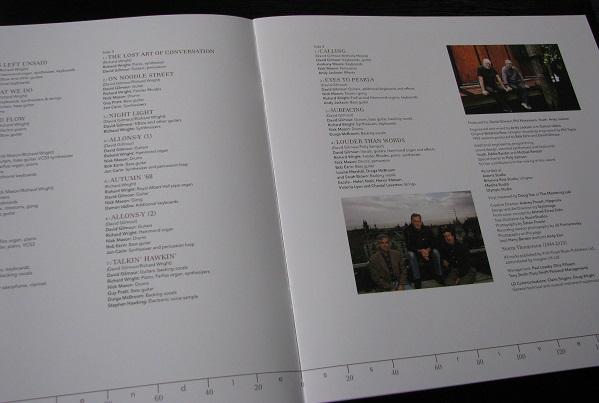 Pink Floyd gatefold vinyl - booklet